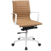 Modway Runway Mid-Back Office Chair; Tan