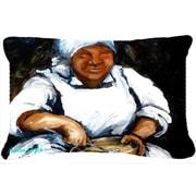 Caroline's Treasures Hot Water Cornbread Indoor/Outdoor Throw Pillow