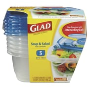 GLAD Soup and Salad Food Storage Containers (5 Pack)
