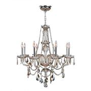Worldwide Lighting Provence 8 Light Crystal Chandelier; Golden Teak