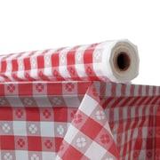 ATLANTIS PLASTICS Plastic Table Cover; Red