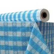 ATLANTIS PLASTICS Plastic Table Cover; Blue