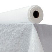ATLANTIS PLASTICS Plastic Table Cover; White