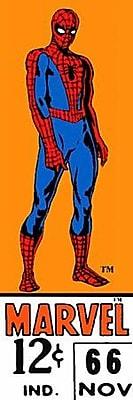 iCanvas Marvel Comics (Retro) - Book Spider-Man Price Tag Panoramic Vintage Advertisement on Canvas WYF078278077689