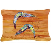 Caroline's Treasures Shrimp Indoor/Outdoor Throw Pillow; Yellow