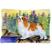 Caroline's Treasures English Toy Spaniel Indoor/Outdoor Throw Pillow