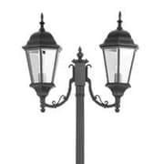 Livex Lighting Hamilton 2 Light Outdoor Post Lantern; Black
