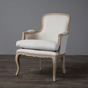 Wholesale Interiors Baxton Studio Napoleon Traditional French Arm Chair; Oak
