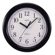 TEMPUS 8.5 Inch Black Quartz Wall Clock (TC1001B)