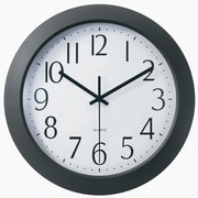 TEMPUS 12 Inch Flat-Panel Plastic Black Radio-Controlled Wall Clock (TC6008B)