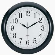 TEMPUS 14 Inch Radio-Controlled Black Wall Clock (TC6083B)