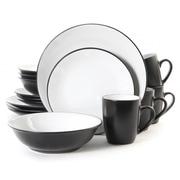 Gibson Dinnerware, Black/White, 16 Piece (58901)