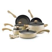 Paula Deen 15-Piece Cookware Set, Oatmeal Speckle (12488)