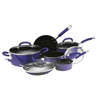 Rachael Ray Cookware Set, Blue, 10-Piece (93591824M) 1949751