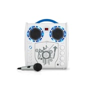 Singing Machine SML383YB Portable CDG Karaoke Lightshow, White