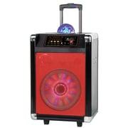 "Supersonic 93591372M IQ-3608DJBT Bluetooth DJ Speaker with Woofer, 8"", Red/Black"