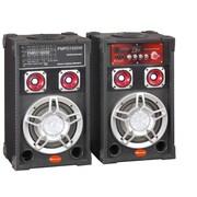 "Supersonic IQ-3006BT 6"" Bluetooth Speaker Pair, Black"