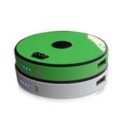 Sungale 2-Disk Round Stackable Power Bank, White/Lime Green (SPB0200-WG)