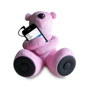 Sungale S-T1-P Portable Teddy Speaker for iPod, iPhone, Smartphone, MP3, Media Player - Pink
