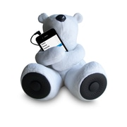 Sungale S-T1-W Portable Teddy Speaker for iPod/iPhone/Smartphone/MP3 Media Player - White