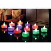Northpoint 12-piece Multicolored LED Tealight Set With 3 Batteries