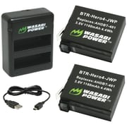 Wasabi Power GoPro® Hero®4 Dual USB Charger & 2 Li-Ion Batteries Kit