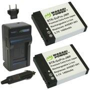 Wasabi Power GoPro® Hero®/Hero®2 Charger With 2 Li-Ion Batteries Kit