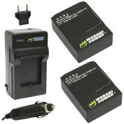 Wasabi Power GoPro® Hero®3/Hero®3+ Charger & 2 Li-Ion Batteries Kit
