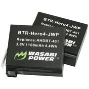 Wasabi Power GoPro® Hero®4 Li-Ion Batteries, 2 Pk
