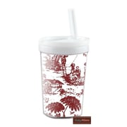 Baby Milano Toile 8 oz Kid's Insulated Tumbler; Burgundy