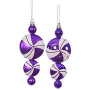 Vickerman Candy Dangle Christmas Christmas Ornament (Set of 4); Purple  /  White
