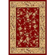 KAS Rugs Cambridge Red & Beige Floral Area Rug; 1'8'' x 2'7''
