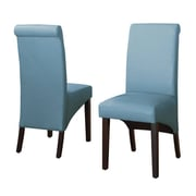 Modus Cosmo Leather Parson Chair (Set of 2); Sky