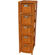 Oriental Furniture 40'' Natural Fiber Occasional Chest; Honey