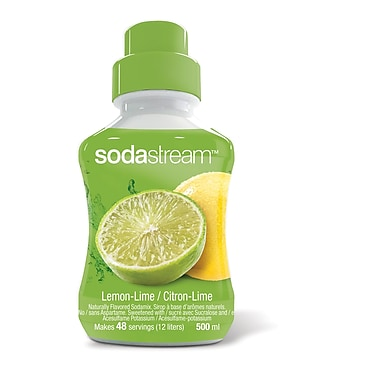 SodaStream® – Sirop à saveur citron-lime, 500 ml