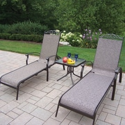 Oakland Living Cascade 3 Piece Lounge Seating Set; Coffee