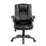 Techni Mobili Mid-Back Manager Executive Chair with Flip-up Arms