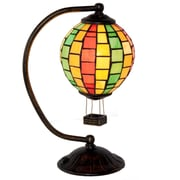 River of Goods Hot Air Balloon Tiffany Style Stained Glass 14.5'' Table Lamp