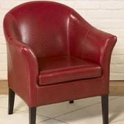 Armen Living 1404 Barrel Chair; Red