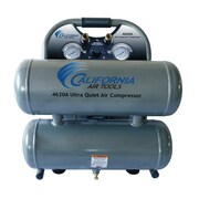 California Air Tools 4.6 Gallon Ultra Quiet and Oil-Free 2.0 HP Aluminum Twin Tank Air Compressor