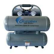 California Air Tools 4.6 Gallon Ultra Quiet  and Oil-Free 1.0 HP Steel Twin Tank  Air Compressor
