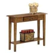 Wildon Home   Traditional Console Table; Medium Oak