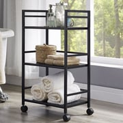 Altra Marshall Three Shelf Rolling Utility Cart; Black