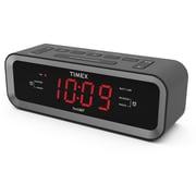 """Timex 2.84""""H x 8.04""""W x 2.44""""D Black AM/FM Dual Alarm Clock Radio (T236)"""