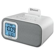 "iHome 4.22""H x 6.66""W x 4.29""D White Bluetooth Dual Alarm Clock (iBT22WS)"