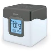 "iHome 5.75""H x 4.73""W x 4.73""D Gunmetal Bluetooth Dual Alarm Clock Radio (iBT28GC)"