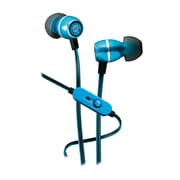 iHome iB18L In-Ear Noise Isolating Headphones with In-Line Microphone, Blue