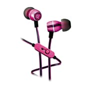 iHome iB18P In-Ear Noise Isolating Headphones with In-Line Microphone, Pink