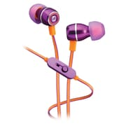 iHome iB18UE In-Ear Noise Isolating Headphones with In-Line Microphone, Iris