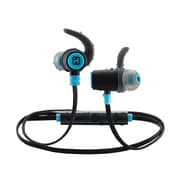 iHome iB73BLC In-Ear Water Resistant Bluetooth Headphones with Microphone, Black/Blue